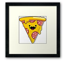 I Moustache Pizza Framed Print
