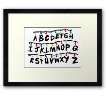 stanger things lamps Framed Print