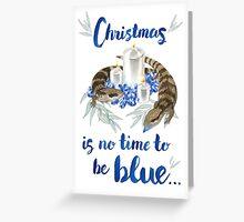 Bluetongue Christmas Greeting Card