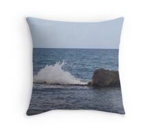 Caribbean Sea Splash Throw Pillow