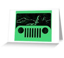 Adventuring Jeep Greeting Card
