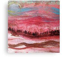 Great Red Mountain Canvas Print