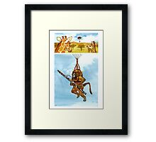 A Baboon Plays Bassoon From Balloons Framed Print