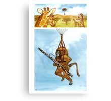 A Baboon Plays Bassoon From Balloons Metal Print