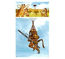 A Baboon Plays Bassoon From Balloons Photographic Print