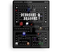 PAC & DRAGONS Metal Print