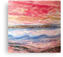 Waves Become Land Canvas Print