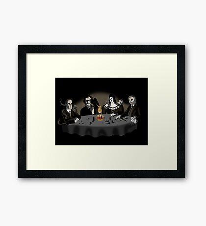 Horrific Game of Poker V. 1 Framed Print