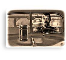 A Czar with a Scar in a Car with a Jar on the Hood Canvas Print