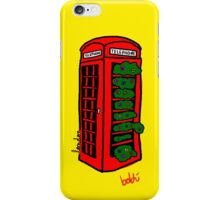 A red but green phonebox iPhone Case/Skin