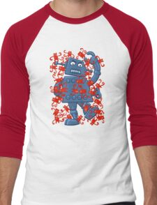 Monkeys VS Robot Men's Baseball ¾ T-Shirt