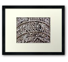 """""""Lazzaro"""" - an history written on the marble 2000 years long Framed Print"""