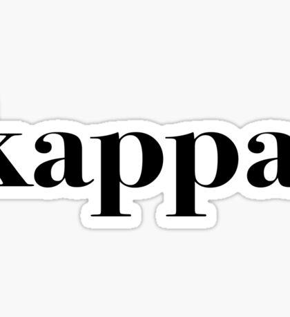 kappa classic Sticker
