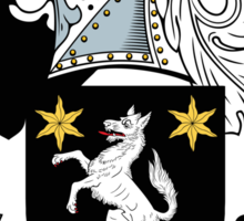 Wilson Coat of Arms I (Donegal 1636) Sticker