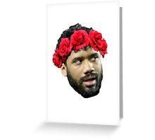 Flower Crown Russell Wilson Greeting Card