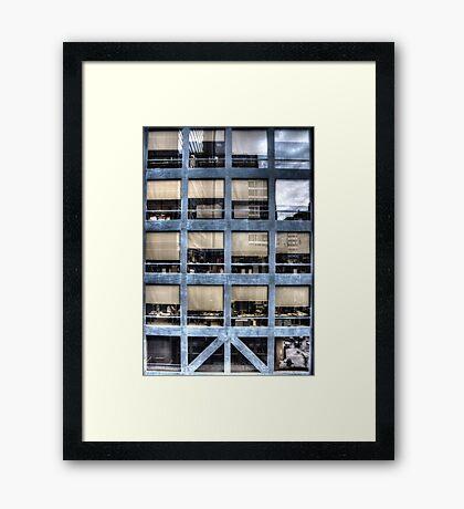 Cube farm Framed Print