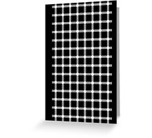 Optical illusion black grid with white dots Greeting Card