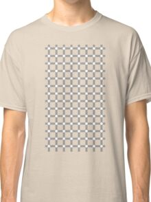 Optical illusion black grid with white dots Classic T-Shirt