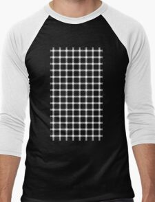 Optical illusion black grid with white dots T-Shirt