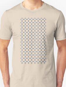 Optical illusion black grid with white dots Unisex T-Shirt