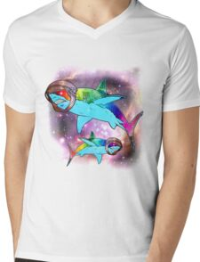 Space Sharks!!! Mens V-Neck T-Shirt