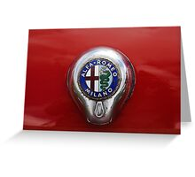 Alfa Romeo Badge Greeting Card