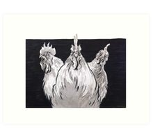 Rooster mob Art Print