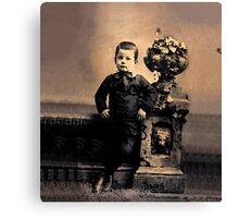 Tintypes: Cemetery Boy Canvas Print