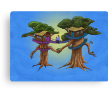 Treehouse in Love Canvas Print