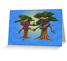 Treehouse in Love Greeting Card