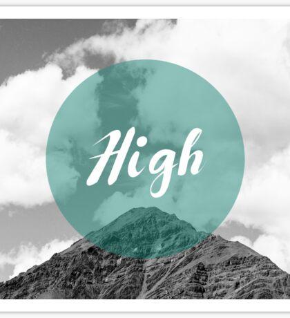 'High' Minimalism in Mountain Background Sticker