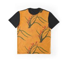 Watercolor Wild Orchid Flowers. Graphic T-Shirt