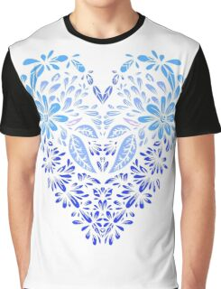 Stylized heart of floral motifs Graphic T-Shirt