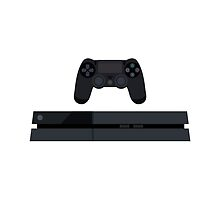 This Is For The Players - PS4 Console & Controller Black by Joren Engbers