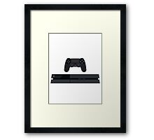 This Is For The Players - PS4 Console & Controller Black Framed Print