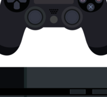 This Is For The Players - PS4 Console & Controller Black Sticker