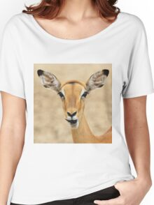 Impala Fun - Wildlife Humor from Africa.  Women's Relaxed Fit T-Shirt