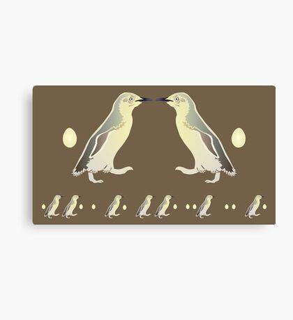 Penguin Morse Code Canvas Print