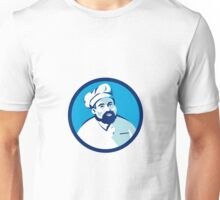 Baker Chef Cook Bearded Circle Retro Unisex T-Shirt