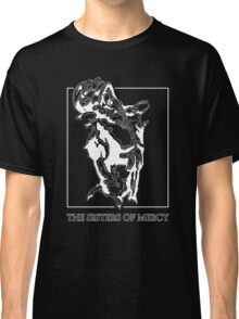 The Sisters Of Mercy - The Worlds End - Front Black and White Classic T-Shirt