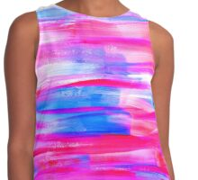 Watercolor texture, background, tie dyed. Contrast Tank