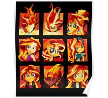 Forms of Sunset Shimmer Poster