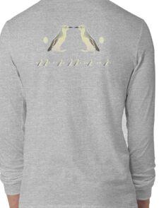 Penguin Morse Code Long Sleeve T-Shirt