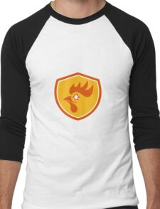 Rooster Eye Shutter Crest Retro Men's Baseball ¾ T-Shirt
