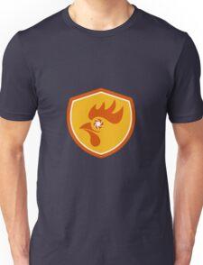 Rooster Eye Shutter Crest Retro Unisex T-Shirt