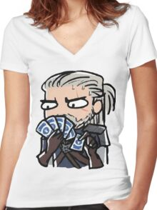 The Witcher - Gwent Women's Fitted V-Neck T-Shirt