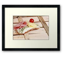 Bread And Butter Framed Print