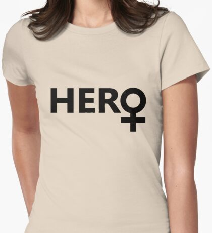Female Hero Womens Fitted T-Shirt