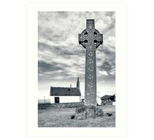 Contrasts - North Berwick Celtic Cross Art Print
