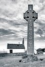 Contrasts - North Berwick Celtic Cross by Mark Tisdale